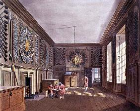 The Guard Chamber, St. James'' Palace from Pyne''s ''Royal Residences''