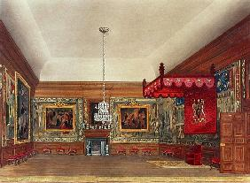 The Throne Room, Hampton Court from Pyne''s ''Royal Residences''