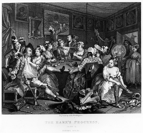 William Hogarth The Orgy 34