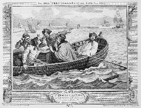 The Idle ''Prentice Turned Away and Sent to Sea, plate V of ''Industry and Idleness''