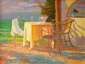 William  Ireland - Evening Terrace, 2003 (oil on board)