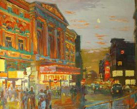 William  Ireland - London Night (oil on board)