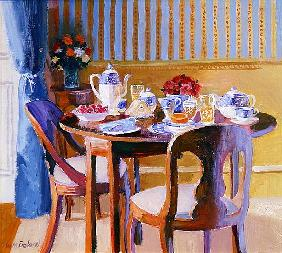 Breakfast Table (oil on board)