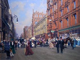 ''Buchanan Street in 1910'' (oil on board)