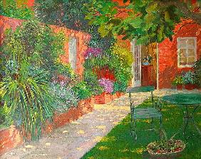 Courtyard (oil on board)