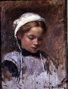 Young Girl in a Blue Pinafore 1914