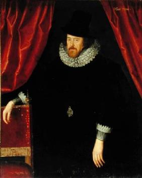 Portrait of Francis Bacon (1561-1626) 1st Baron of Verulam and Viscount of St. Albans