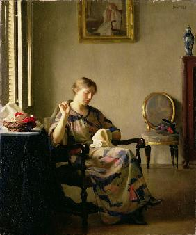 Woman Sewing c.1913