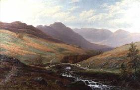 Elter Water and Langdale Pikes, Westmorland