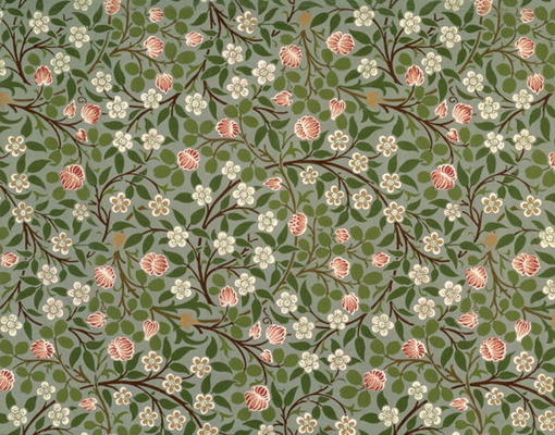 Small Pink And White Flower Wallpaper De William Morris Als