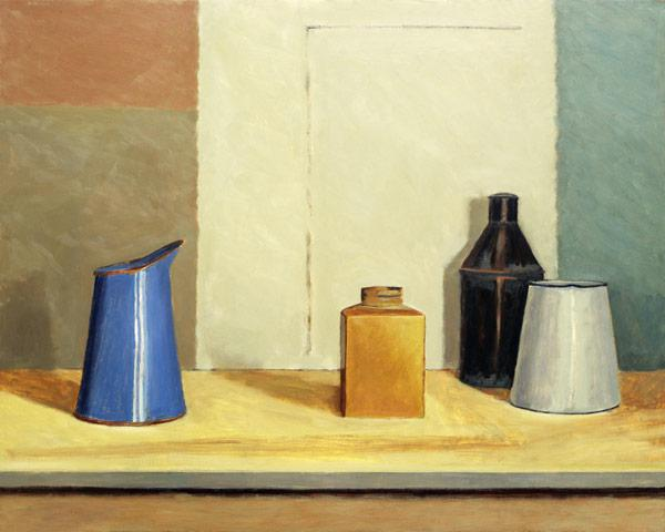 Blue Jug Alone (oil on board)