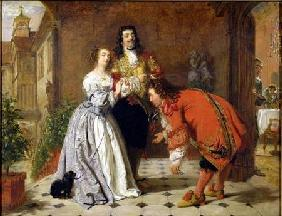 Scene from Moliere's 'The Would-be Gentleman' 1848