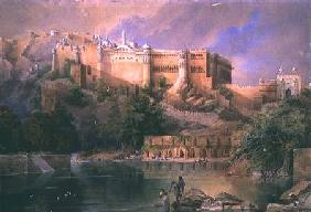 The Fort at Amber, Rajasthan 1863