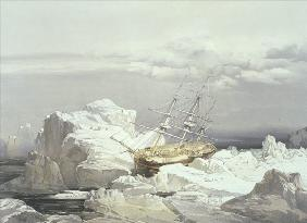 Critical Position of H.M.S Investigator on the North Coast of Baring Island 1851