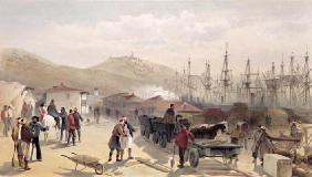 The Railway at Balaklava, plate from 'The Seat of War in the East', 1856 (colour litho) 18th