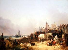 Coastal Scene with Figures