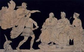 Achilles Restrained by Minerva from Rushing Upon Agamemnon 1818  &