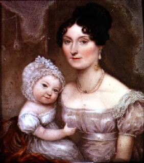 Lady FitzHerbert with one of her youngest children c.1817