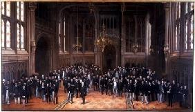 Members' Lobby, Houses of Parliament 1872-73