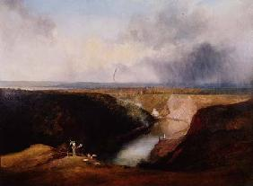 The Avon Gorge from Clifton Observatory 1830