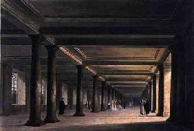 Colonnade under Trinity College Library, Cambridge, from 'The History of Cambridge', engraved by Jos 1815 our