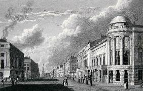 Regent Street, with the Argyle Rooms; engraved by Charles Heath