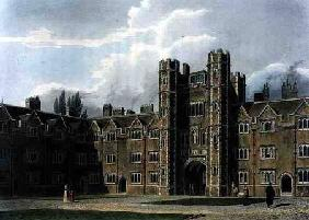 The Second Court of St. John's College, Cambridge, from 'The History of Cambridge', engraved by Jose 1815 our