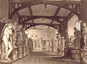 The Statue Gallery, illustration from the 'History of Oxford', engraved by Frederick Christian Lewis 1814