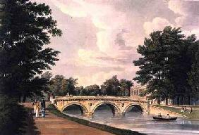 Trinity College Bridge, Cambridge, from 'The History of Cambridge', engraved by Joseph Constantine S 1815 our
