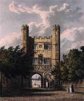 Trinity Gate, Cambridge, from 'The History of Cambridge', engraved by Joseph Constantine Stadler (fl 1815 our
