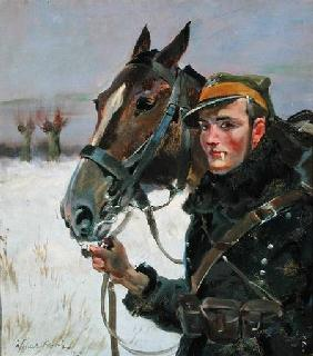 Soldier with a Horse 1923