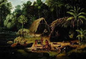 Carib Village, British Guyana 1836