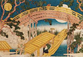 Fan Bridge by Moonlight, from 'Views of Mount Tempo' 1834