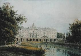 View of the Great Palace of Strelna near St. Petersburg 1841  on