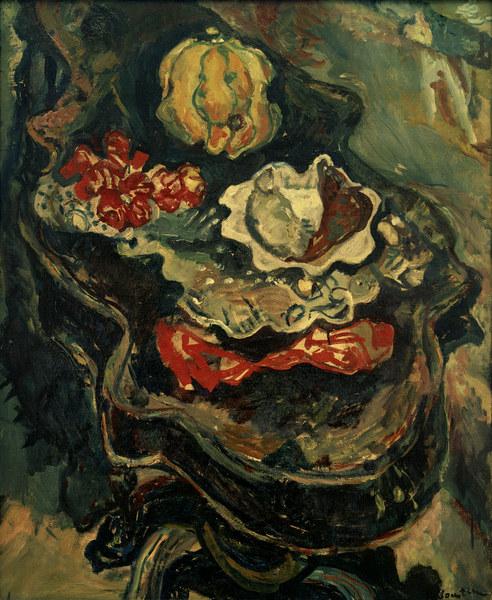 Chaim Soutine - Tisch mit Lebensmitteln