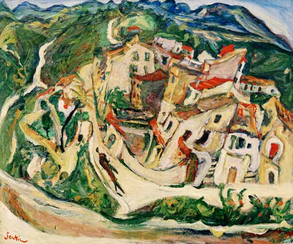 Chaim Soutine - Sicht auf Cagnes (La Gaude et les Baous)