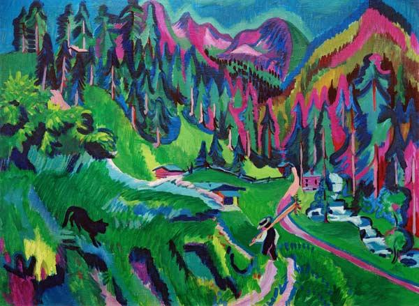 Ernst Ludwig Kirchner - Landschaft Sertigtal