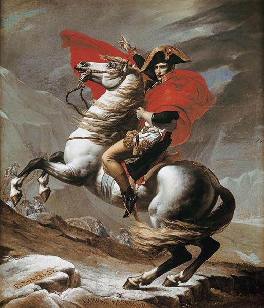 Jacques Louis David - Napoleon bei der Überquerung der Alpen