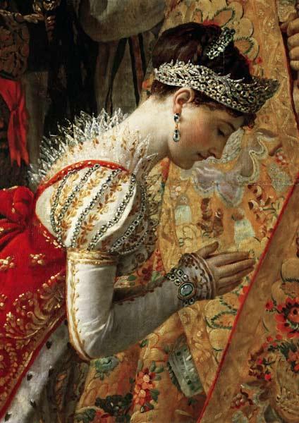 Jacques Louis David - Kaiserin Josephine (Die Krönung Napoléons I., Detail)