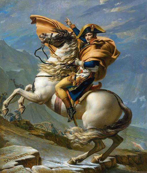Jacques Louis David - Napoleon,Gr.St.Bernhard