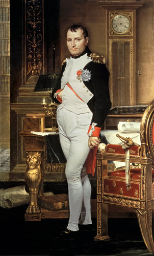 Jacques Louis David - Napoleon Bonaparte (1769-1821) in his Study