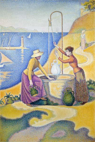 Paul Signac - P.Signac, Frauen am Brunnen