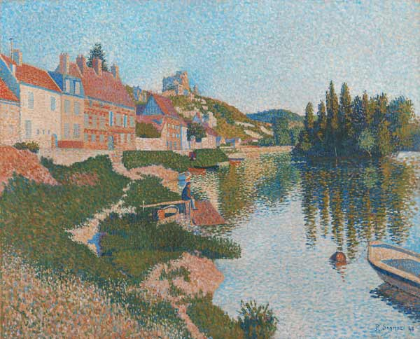 Paul Signac - The River Bank, Petit-Andely, 1886 (oil on canvas)