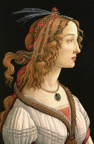 Sandro Botticelli - Weibliches Brustbild (Idealbildnis der Simonetta Vespucci)